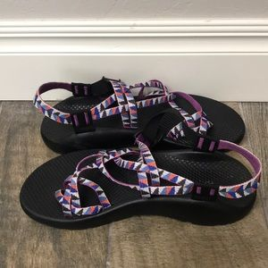 Chaco  multi color sandals size 10.